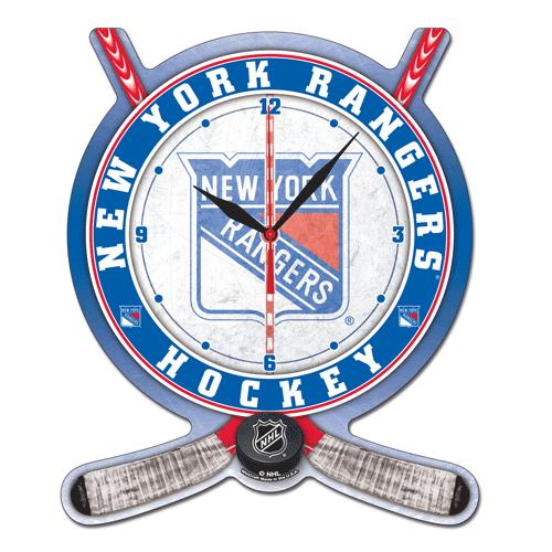 nhl high def wanduhr new york rangers eur 27 00. Black Bedroom Furniture Sets. Home Design Ideas